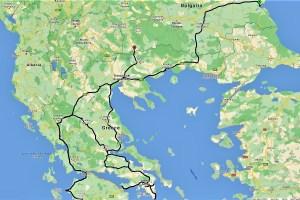 Karte Bulgarien und Griechenland