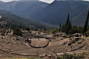 Antikes Theater in Delphi, Griechenland