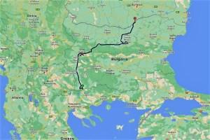 Meine Fahrt durch Bulgarien