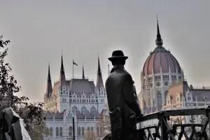 Monument to Imre Nagy Budapest, Hungary