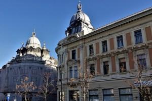 Innenstadt Cluj-Napoca, Rumänien