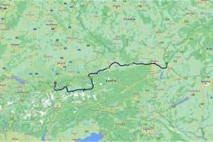 My route through Austria