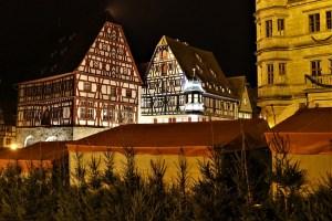 Abends in Rothenburg ob der Tauber, Deutschland