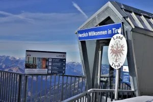 German-Austrian border on the Zugspitze