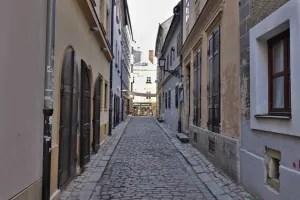 Small alley in Bratislava, Slovakia