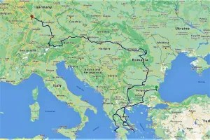 My route in Europe