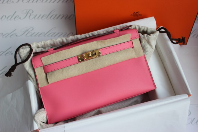 Hermes kelly mini rose azalee
