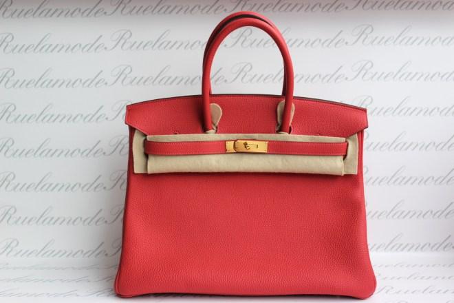 Hermes Birkin 35 Rouge Pivione
