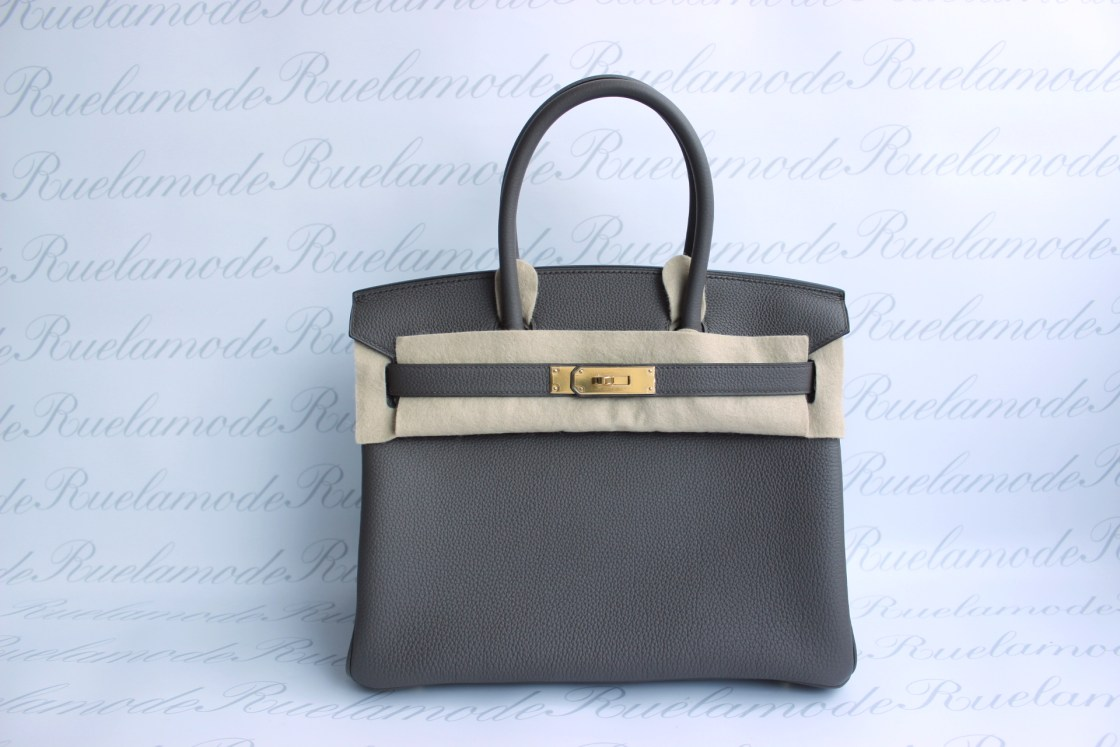 b3b0a68b1b17 Brand new Hermes Birkin 30 Etain Togo GHW SOLD – Ruelamode