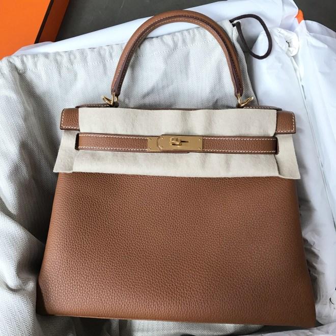 21d7b58ca8dd6 Brand new Hermes Kelly 28 Gold Togo GHW SOLD – Ruelamode