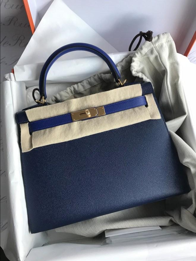 Hermes kelly 28 Blue Sapphire HSS