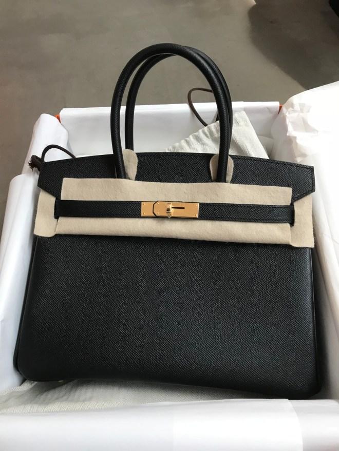 Hermes Birkin 30 Black Epsom GHW