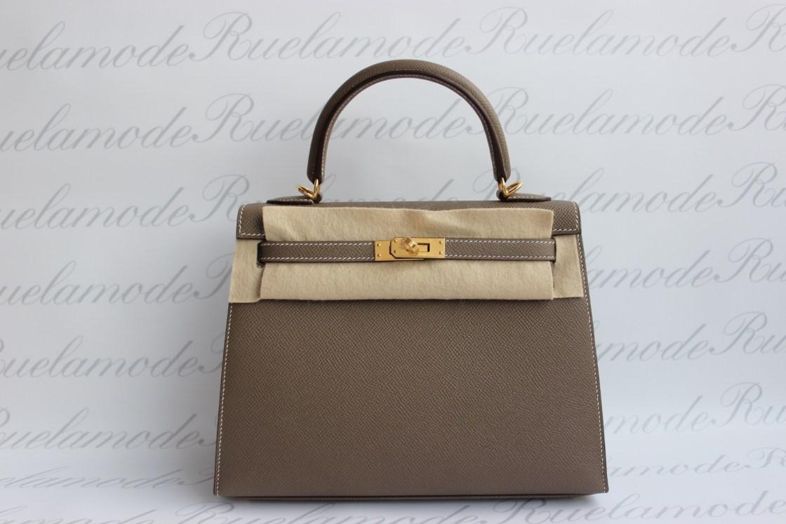 9c6b83a7e0d1 Brand new Hermes Kelly 25 Etoupe Epsom GHW SOLD – Ruelamode