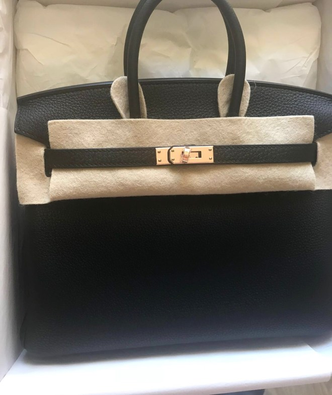 Brand new Hermes birkin 25 Black Togo Rose Gold Hardware SOLD ... 6c05ef61c