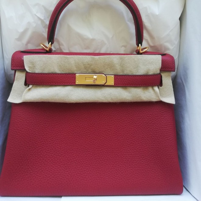 Hermes Kelly 28 Rouge Grenate Togo GHW .JPG