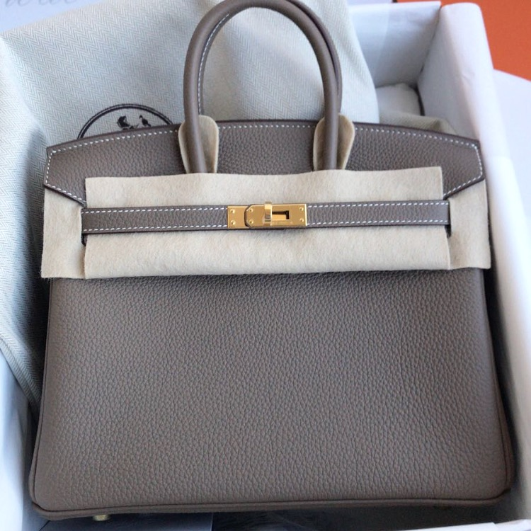 a0ab2ffbd6fa ... handbag b5158 9eaee australia brand new hermes birkin 25 etoupe togo ghw  47482 62783 ...