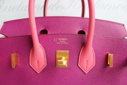 Brand New Hermes Birkin 25 Rose Pourpre   Rose Azalee Epsom HSS Brushed GHW b47f0545be8b5