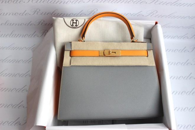Hermes kelly 28 Gris Asphalt and jaune dor HSS .JPG