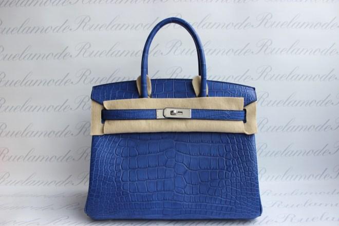 Blue electric matte Birkin 30