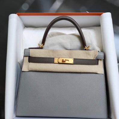 40729cd6c225 Brand new Hermes kelly 28 Rose azalee epsom GHW S 21