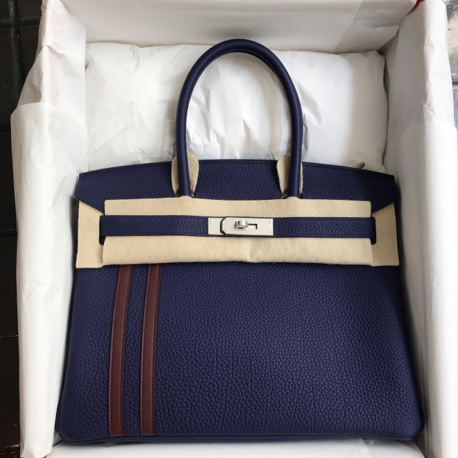 Hermes birkin 30 Blue Officier PHW.JPG