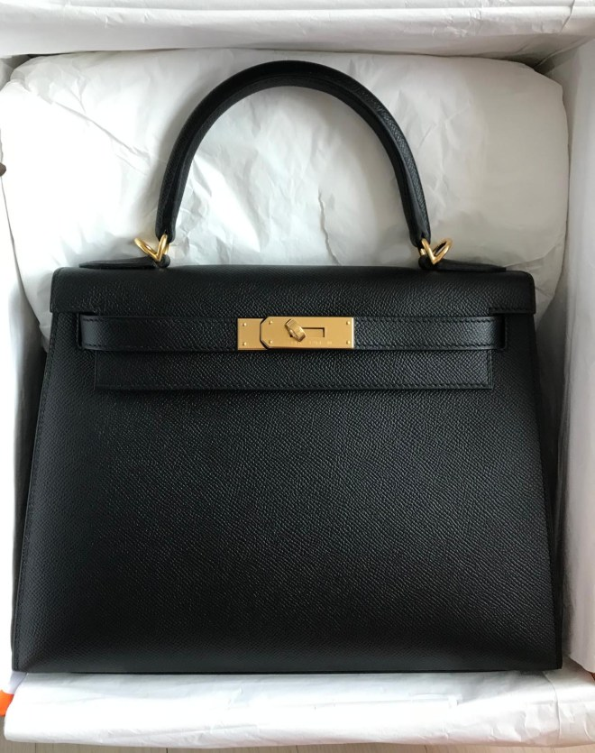 kelly 28 Black Sellier