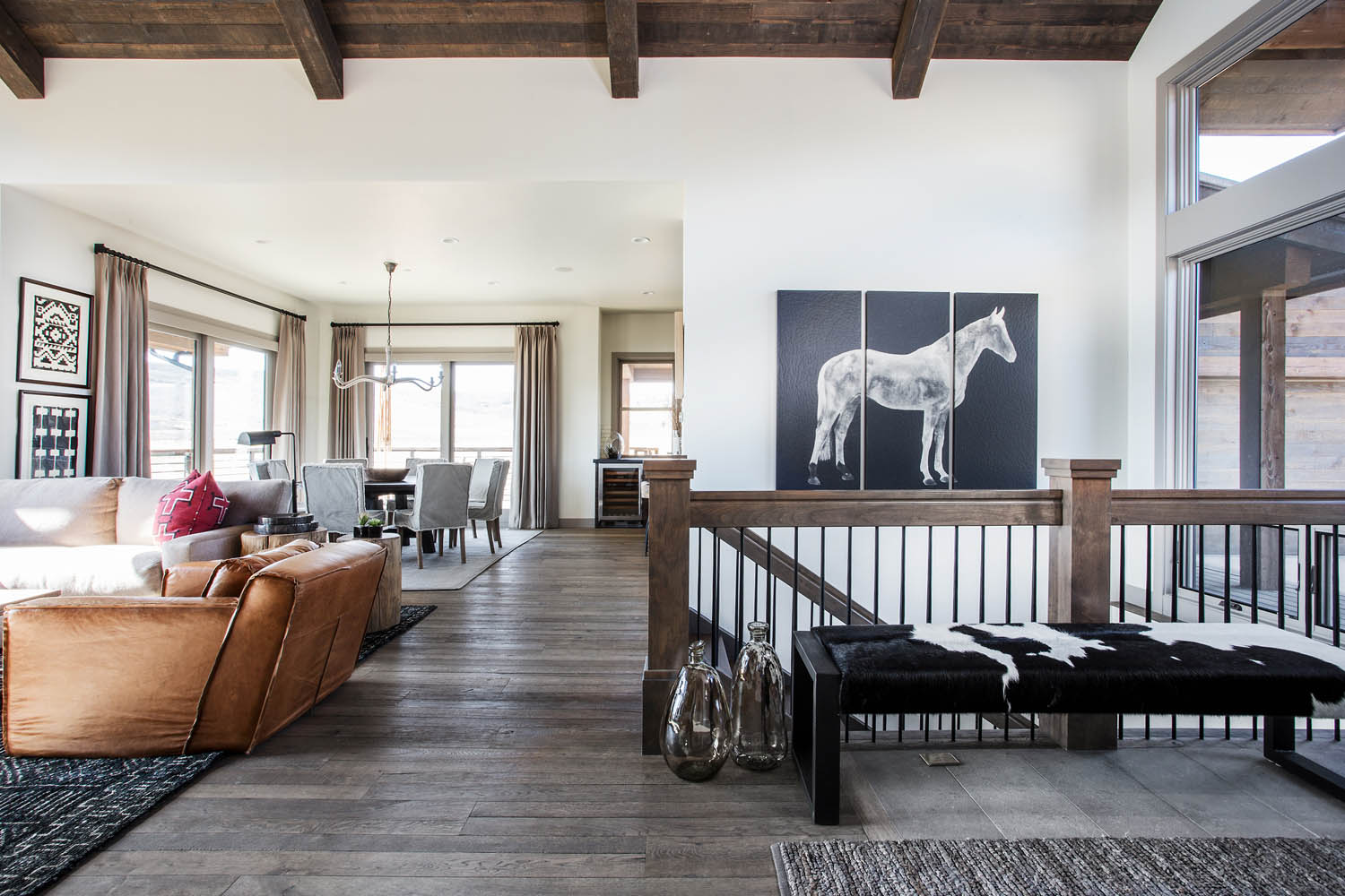 A Modern Mountain Model Home in Park City   Rue    When you walk into the model my team and I designed for Victory Ranch   it s easy to forget that you re in the open wilderness of the rural Utah  back