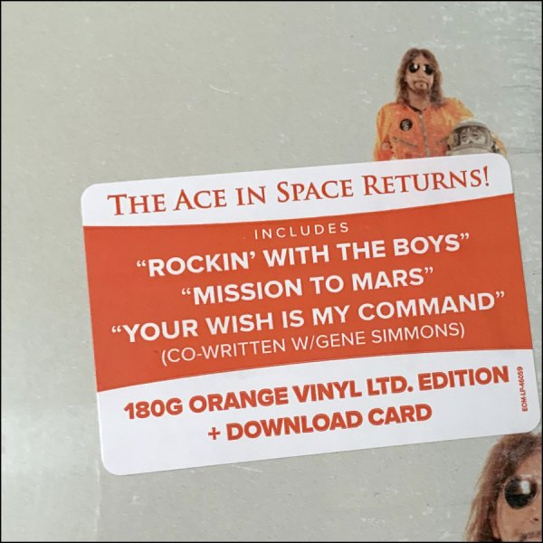 Ace Frehley: Spaceman (Indie Stores Orange Coloured Vinyl)