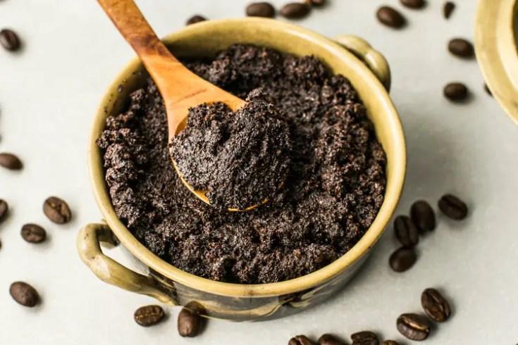 פילינג לגוף עם קפה