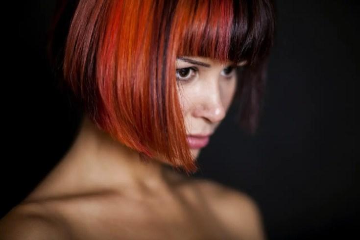 צבע שיער אדום