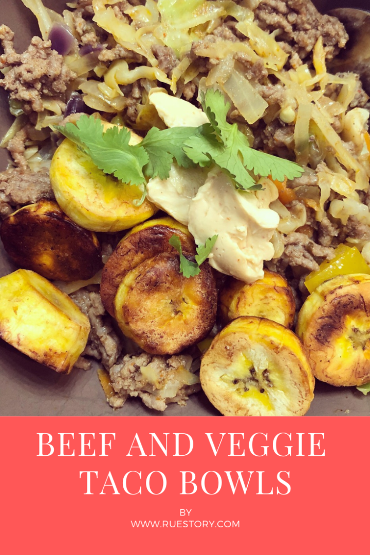 Beef and Veggie Taco Bowl