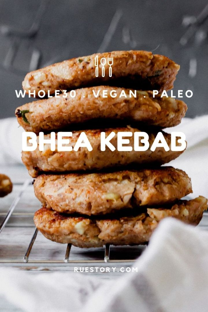 Bhea Kebab (Vegan, Paleo, Whole30)