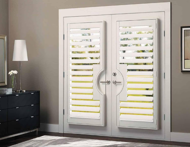 French Doors Ruffell Brown Window Fashions