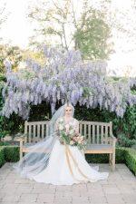 Luxe California Garden Wedding Inspo with an Ombre Bouquet