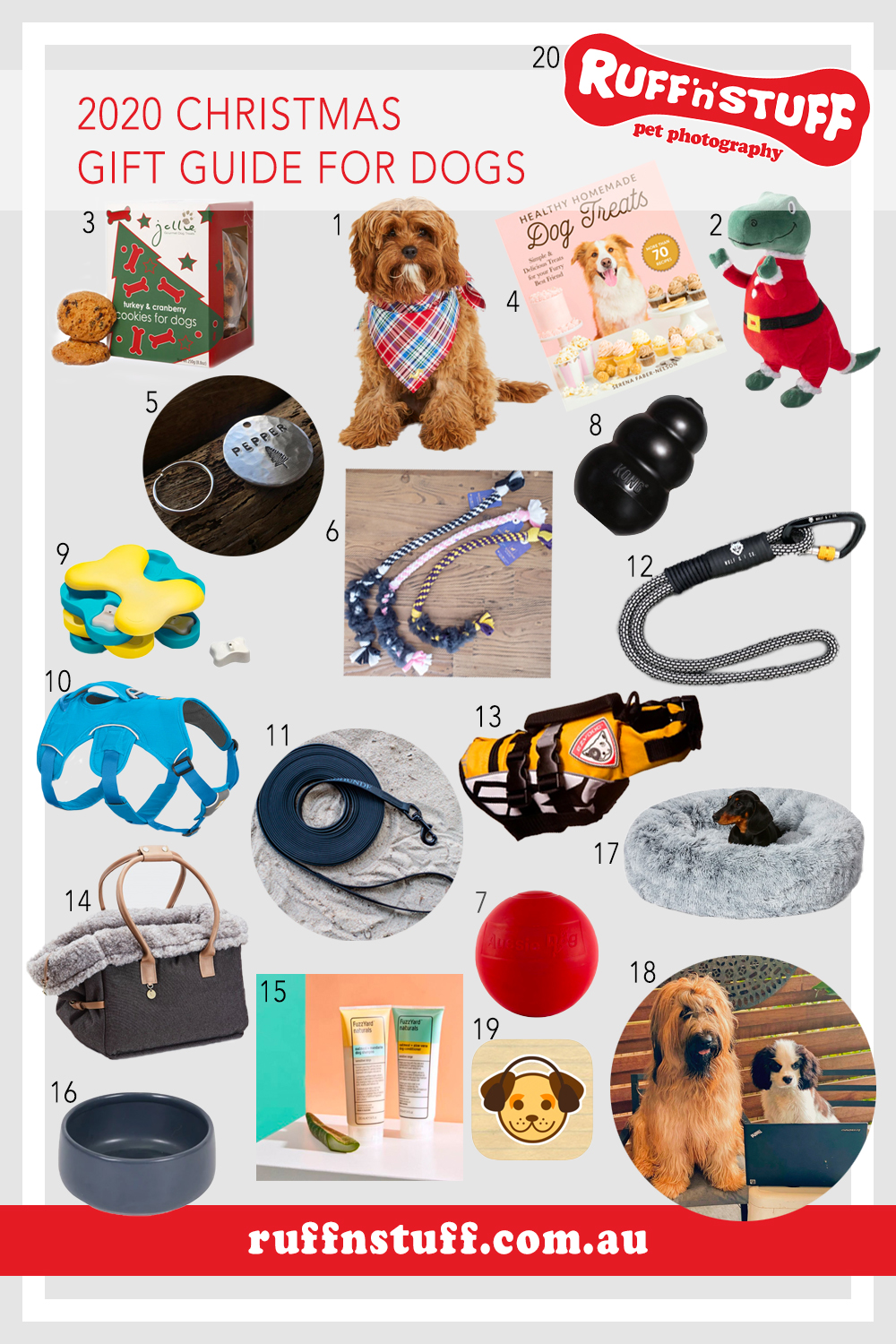 Ruff 'n' Stuff Pet Photography 2020 Christmas Gift Guide for Dogs