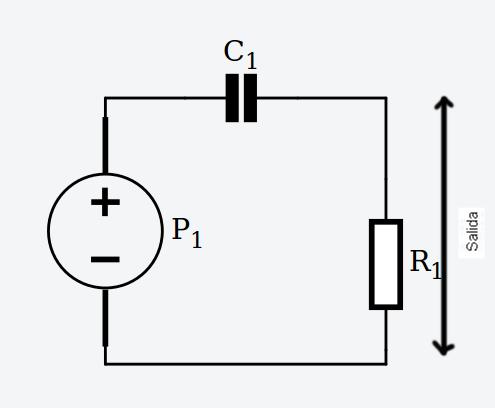 Circuito filtro paso alto