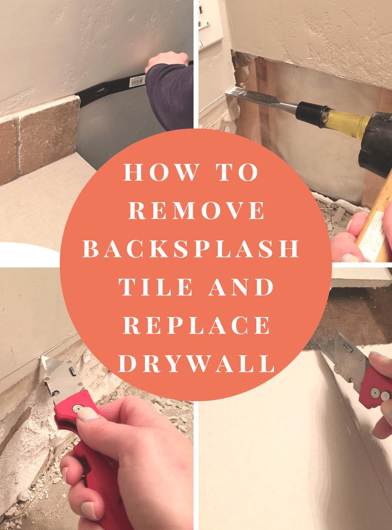 how to remove backsplash tile and