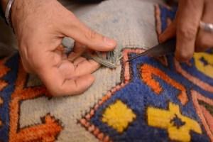 repairing a turkish rug