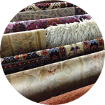 rugs hoisted to dry