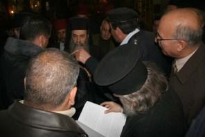 Grecii ortodocşi cerând respectarea acordului semnat