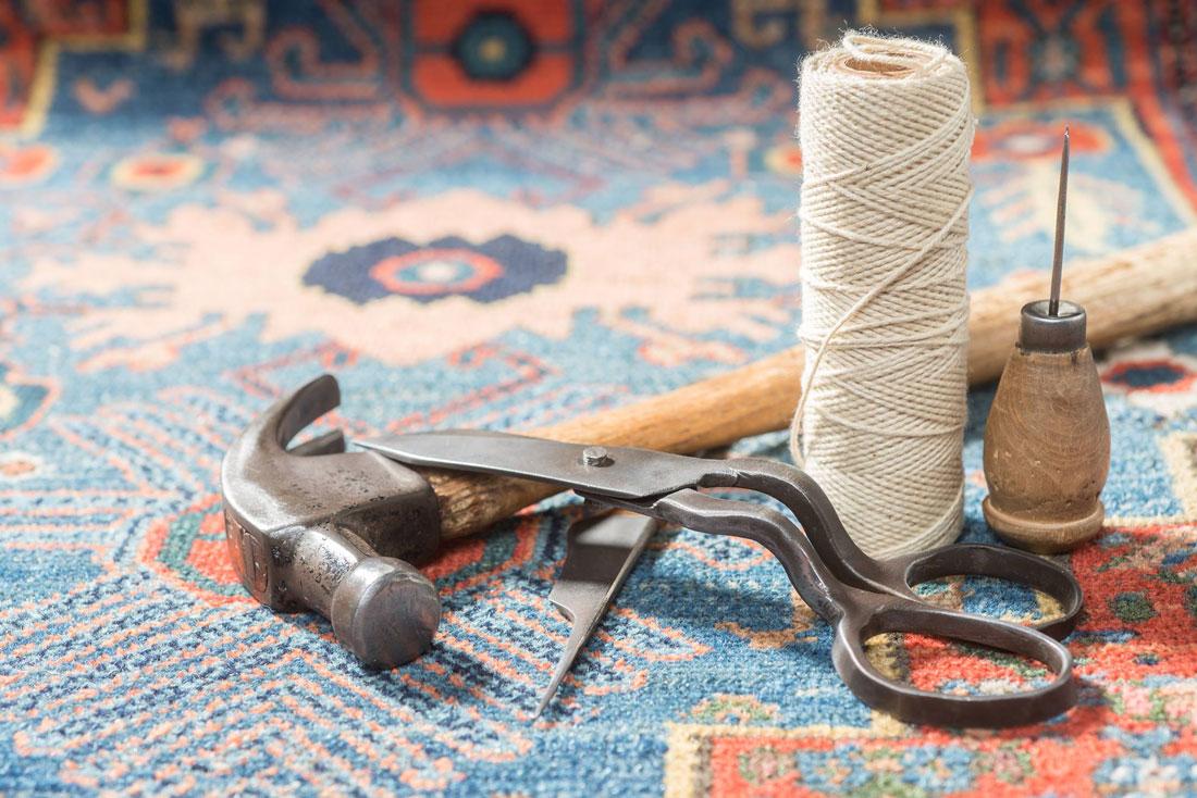 oriental rug repair tools