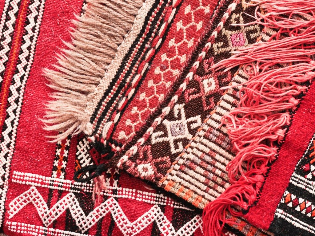 oriental rugs fringe close up