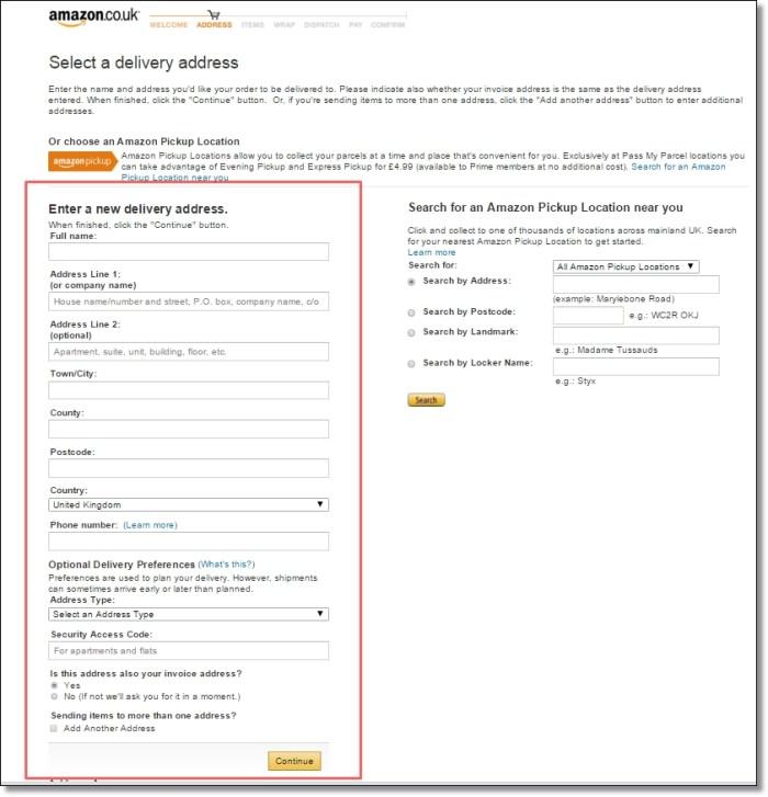 amazonukアマゾンイギリス買い物方法