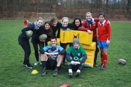 Spielerinnen und Trainer in Nürnberg