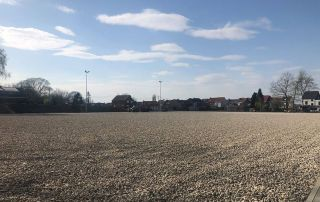 rugby pitch under construction