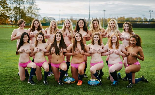 Pics: Women's Rugby Team Get Their Kits Off For Naked Charity Calendar