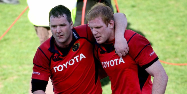Anthony Foley and Paul O'Connell after the game 23/4/2006