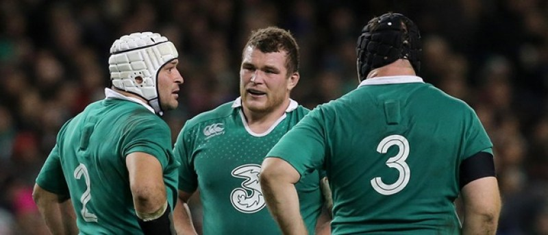 Guinness Series 22/11/2014 Ireland Rory Best, Jack McGrath and Mike Ross  Mandatory Credit ©INPHO/Ryan Byrne