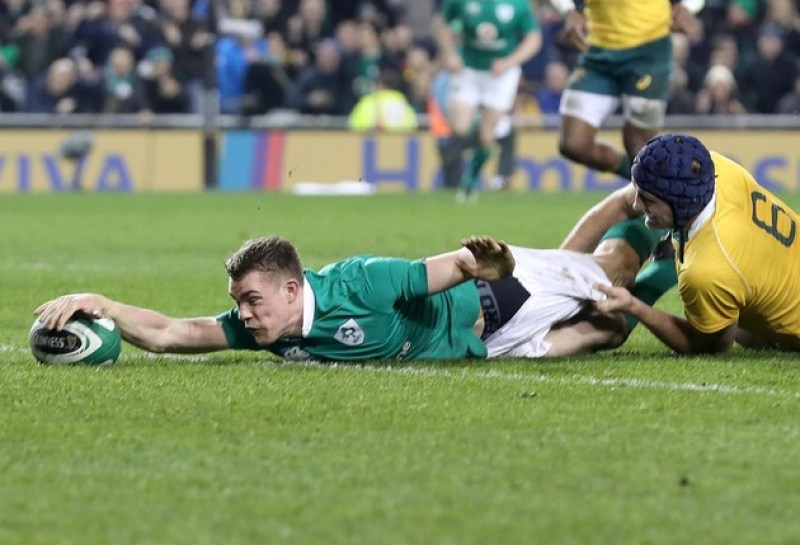 Garry Ringrose scores his sides second try 26/11/2016