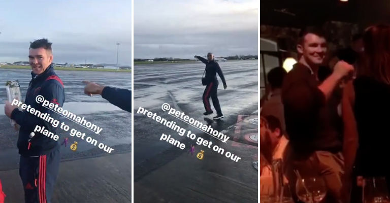 WATCH: Peter O'Mahony Has Been Getting Some Slagging Over His New Contract